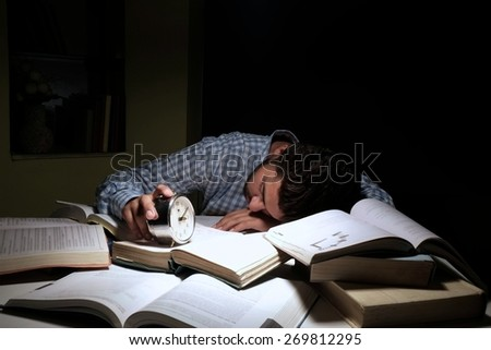 Indian male student in anxiety due to exams. - stock photo