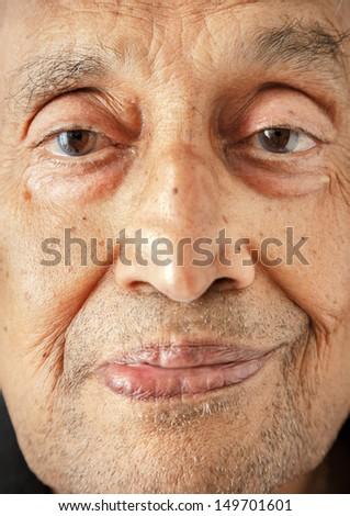 Indian man face - stock photo
