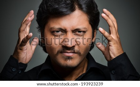 indian man with face expressions