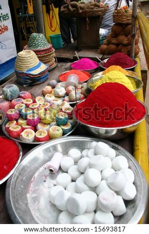 Indian market - stock photo