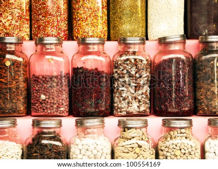 Indian market spices - stock photo