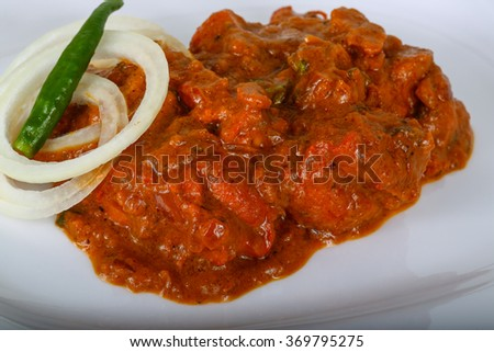 Indian masala with onion and green pepper