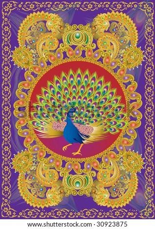 Indian motif pattern - stock photo