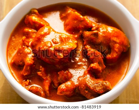 indian mutton curry - stock photo