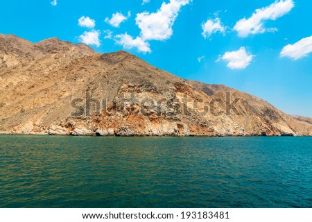 Indian Ocean, mountains, boats, skyline, horizon