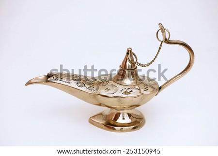 indian oil lantern Aladdin style - stock photo