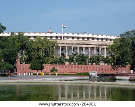 Indian Parliament House, New Delhi, India.
