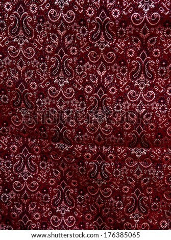 Indian pattern on fabric