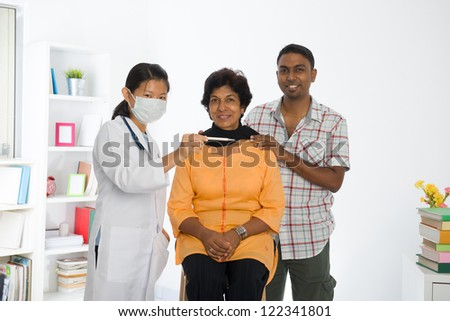 indian punjabi family	senior doctor appointment medical checkup