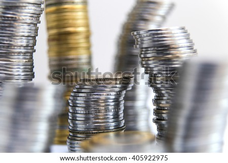 Indian rupee coins - stock photo