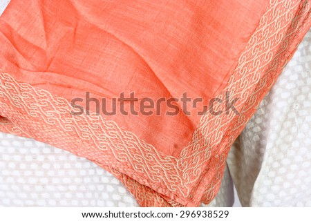 indian salwar kameez, a traditional wear for girls and women. Beautiful embroidery and designer collections - stock photo