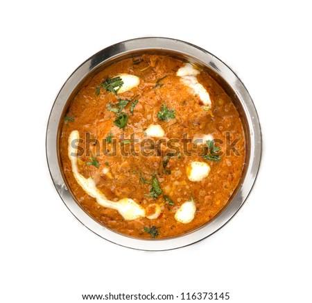 indian sambar isolated on white back ground - stock photo