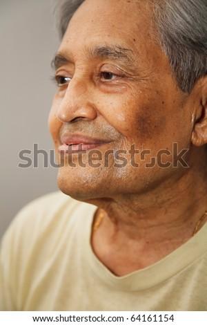 Indian senior citizen - stock photo