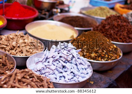 Indian spices. - stock photo