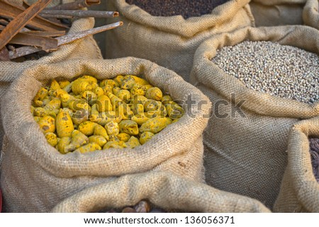 Indian spices at the market