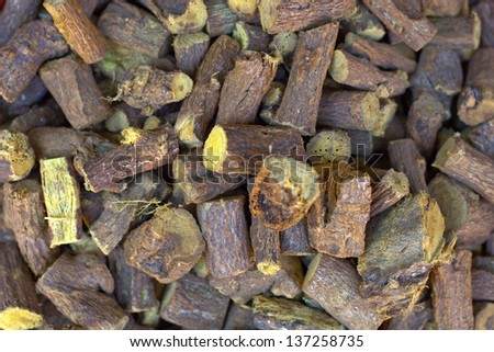 Indian spices at the market , background - stock photo