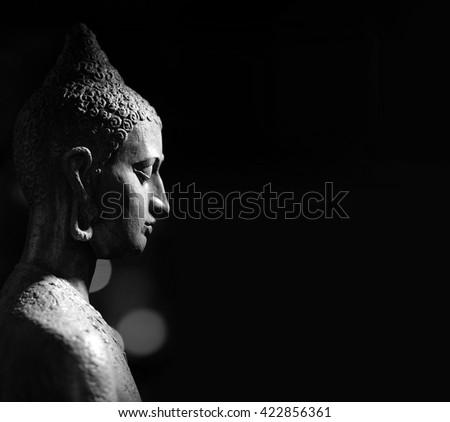 Indian statue. Buddha - stock photo