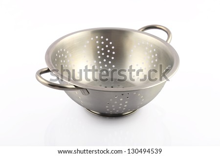Indian Steel Bowl - stock photo