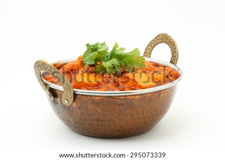 INDIAN STYLE COTTAGE CHEESE VEGETARIAN CURRY DISH. Kadai Paneer - traditional Indian food. - stock photo