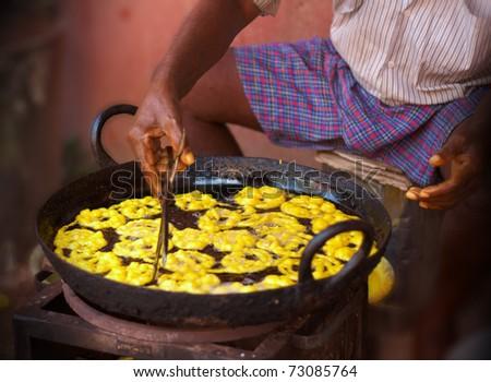 Indian sweet jalebi - stock photo