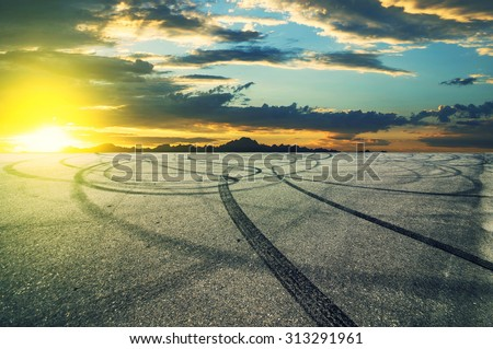 Indian tire road - stock photo