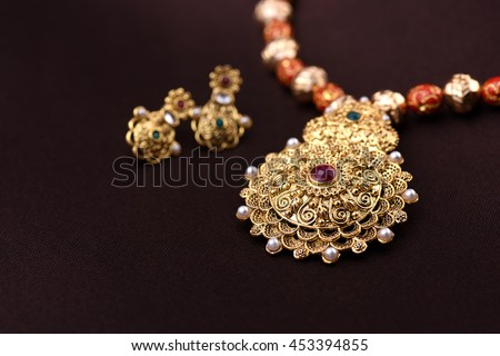 Indian Traditional Jewellery - stock photo