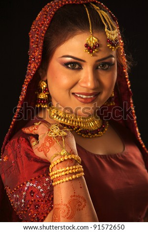 Indian Traditional Wedding Beautiful bride red dress