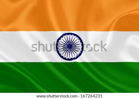 Indian waving flag - stock photo