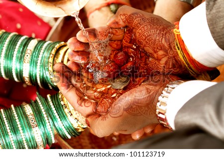 indian wedding - stock photo