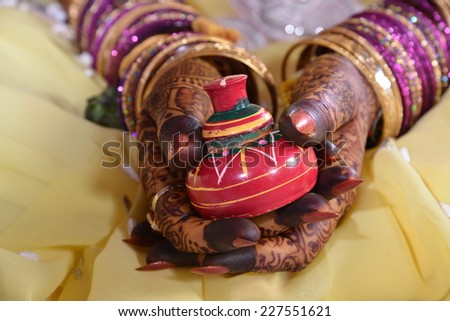 indian wedding - stock photo