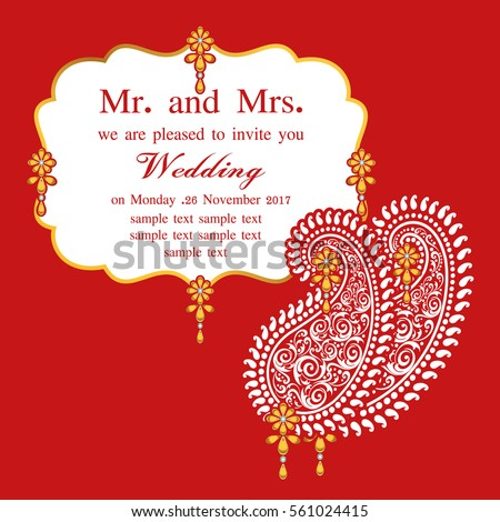 Wedding Card Design Images RoyaltyFree Images Vectors – Nikah Invitation Cards