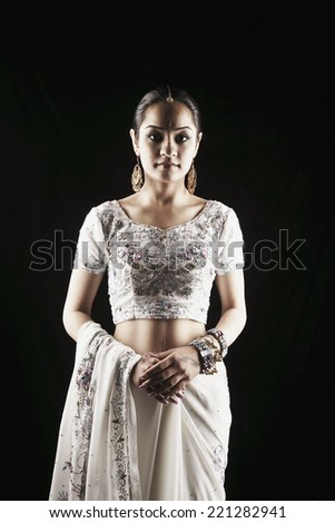 Indian woman in traditional dress - stock photo