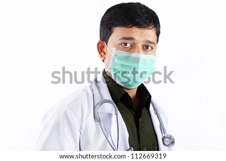 Indian Young surgeon - stock photo