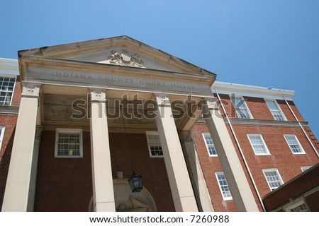 Indiana County Courthouse in Indiana, Pennsylvania. - stock photo