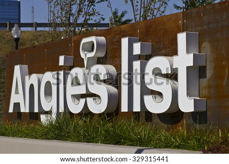 INDIANAPOLIS - CIRCA OCTOBER 2015: Angie's List Corporate Office and Headquarters - stock photo