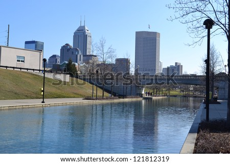INDIANAPOLIS - FEBRUARY 5: Indianapolis, the capital city of Indiana, is the 12th largest city in the United States. The Indianapolis skyline pictured on February 5, 2012 in Indianapolis, Indiana.