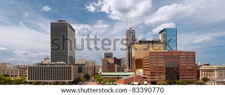 Indianapolis. Image of Indianapolis at sunny summer day. - stock photo