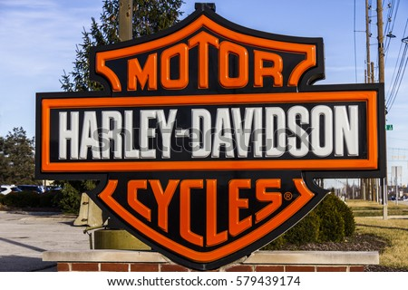 Indianapolis, IN - Circa February 2017:                         Harley-Davidson Local Signage. Harley Davidson's                         Motorcycles are Known for Their Loyal Following                         VII