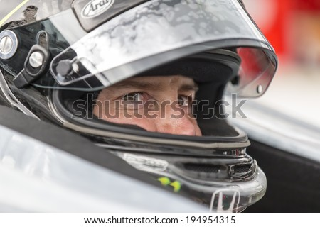 indianapolis, IN - May 16, 2014:  Kurt Busch (26) practices the Suretone Honda during a practice session for the Indianapolis 500 at Indianapolis Motor Speedway in indianapolis, IN. - stock photo