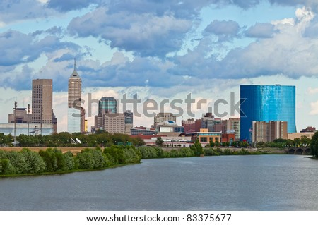 Indianapolis skyline. - stock photo