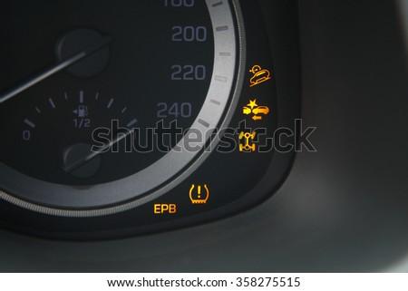 indicator light in car - stock photo