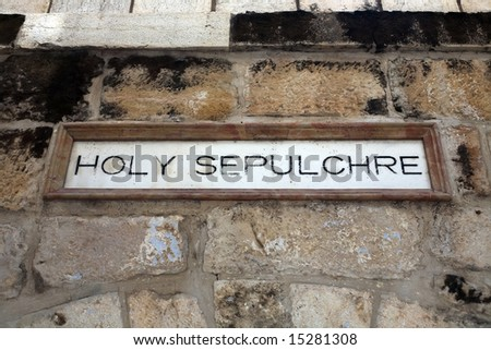 Indicator to the holy sepulchre.