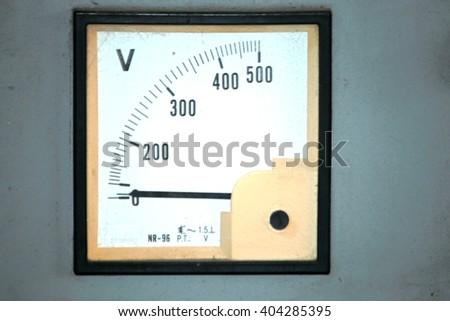 Indicator voltage - stock photo