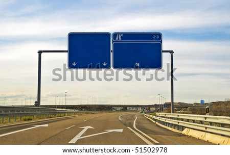 indicators on a highway - stock photo
