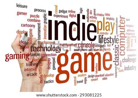 Indie game concept word cloud background - stock photo