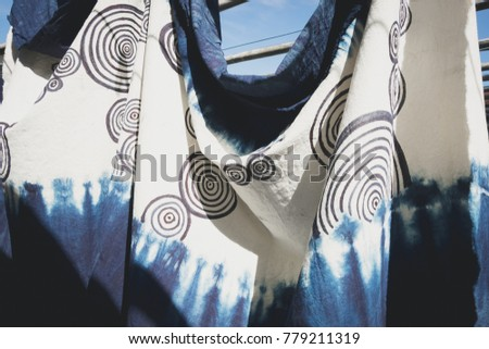 Indigo dyed cotton