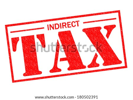 INDIRECT TAX red Rubber Stamp over a white background. - stock photo