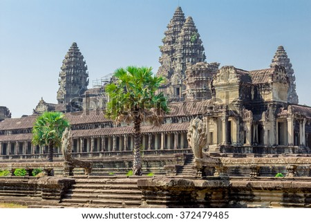 Individual construction of Angkor Wat after archaeological excavations and restorations