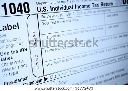 Individual Income Tax Forms United States Stock Photo Edit Now
