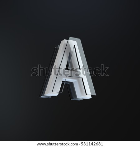 how to choose individual letters in a logo